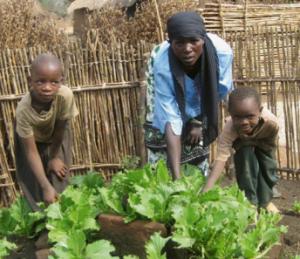 Bauernfamilie in Tansania