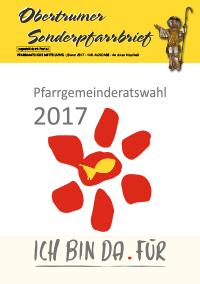 SonderpfarrbriefNo 148, Pfarrgemeinderatswahl Jänner 2017