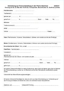Download der Firmanmeldung als PDF Datei.